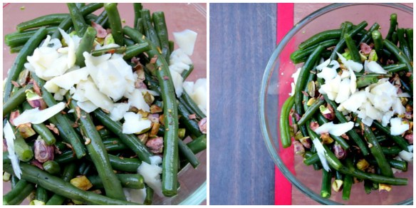 Green Beans with Asiago and Pistachios Collage