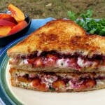 Blackberry Peach Grilled Cheese