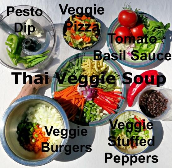 Veggie Prep with Labels