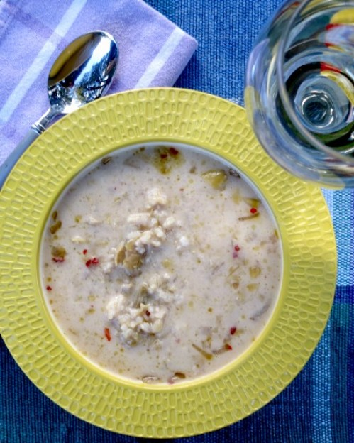 Artichoke and Brown Rice Soup