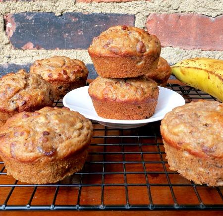Banana Date Pecan Muffins