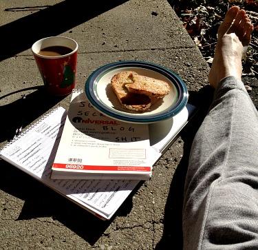 Coffee, Granola Bread and Butter