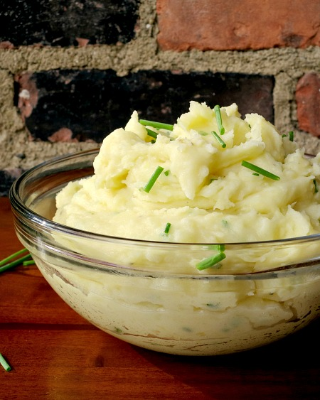 Mashed Potatoes with Chive Butter