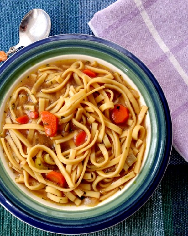 Chickenless Noodle Soup