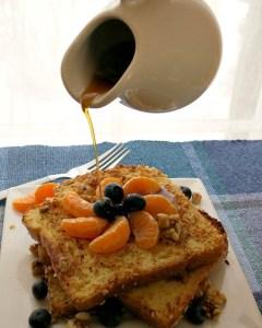 Coconut Orange Blueberry French Toast