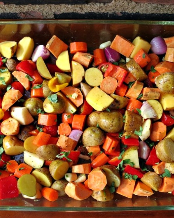 Roasted Vegetables Uncooked
