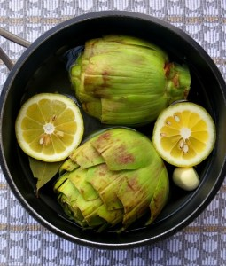 Artichokes with Lemon Butter Sauce