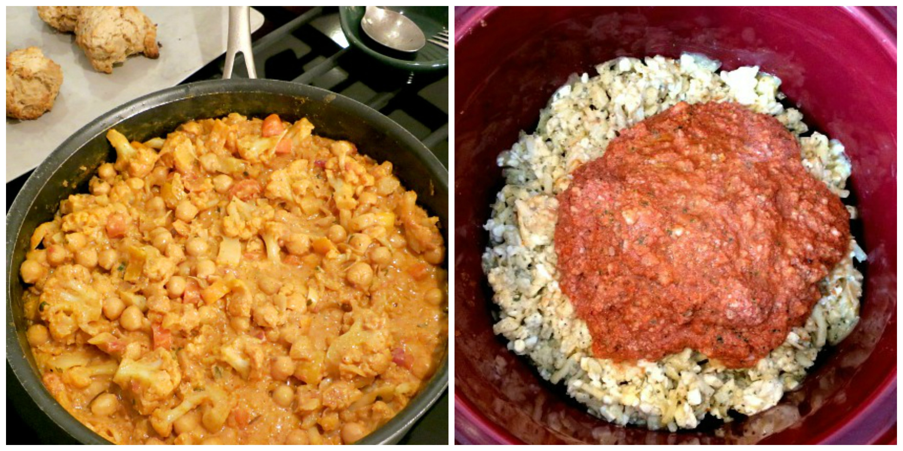 Saturday and Sunday Dinner Cooking Collage