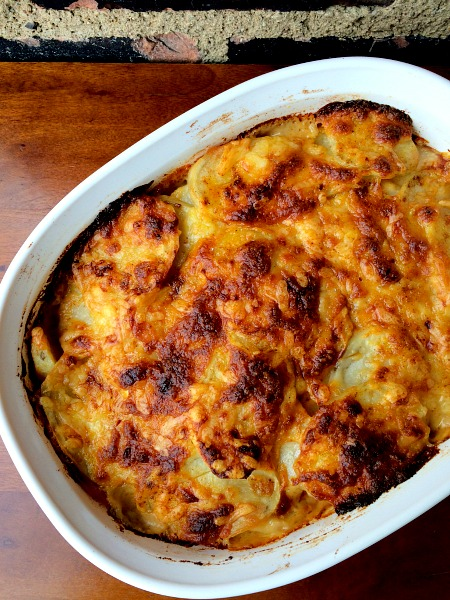 Cheddar Scalloped Potatoes
