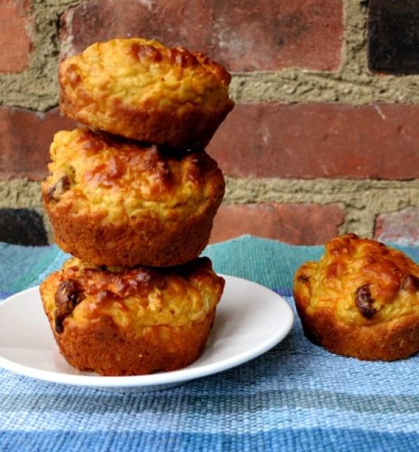 No Sugar Carrot Cake Muffins