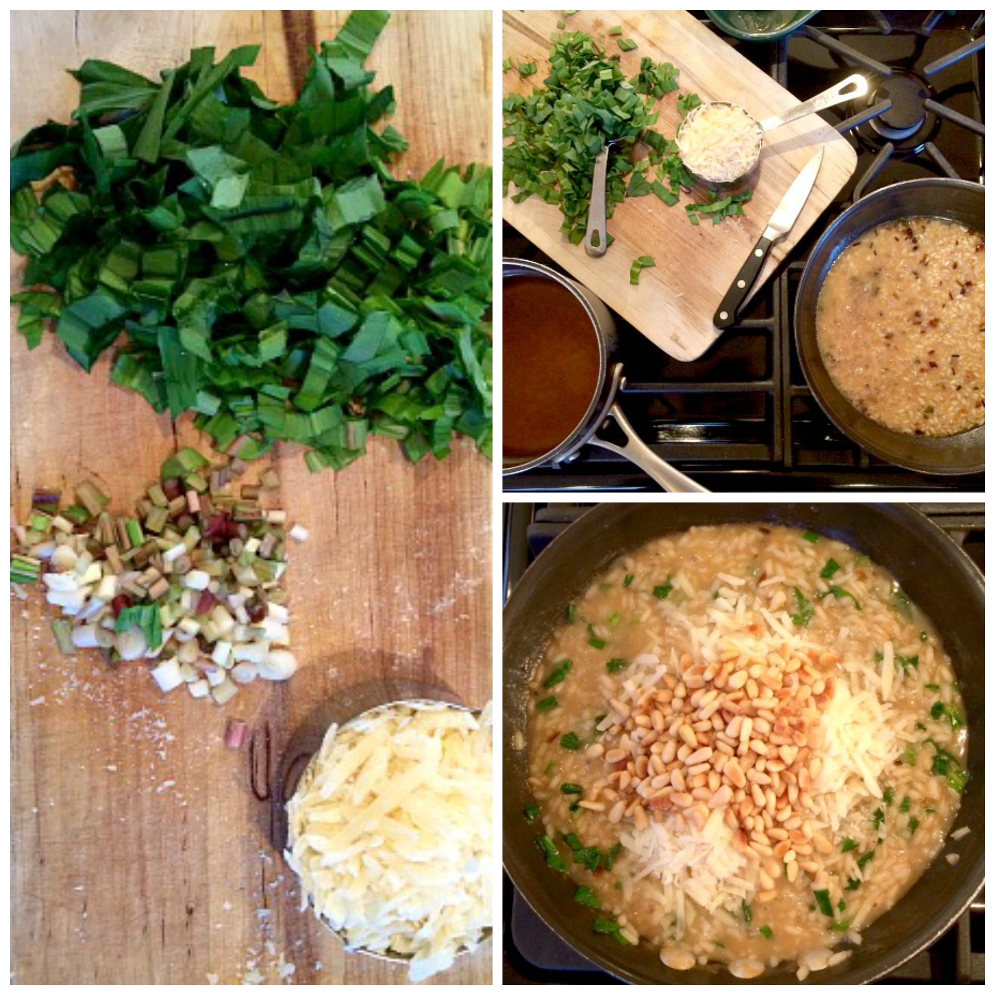 Ramp Risotto Collage