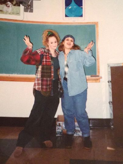 I'm missing the plaid skirt in this photo although it is from high school.