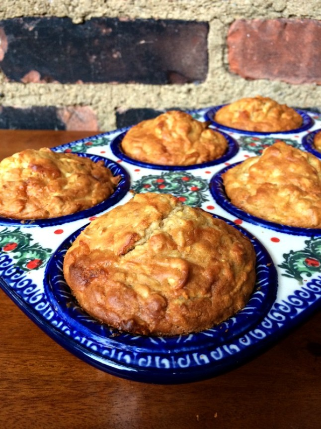Cheddar Apple Soaked Multigrain Muffins