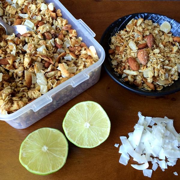 Lime Coconut Granola