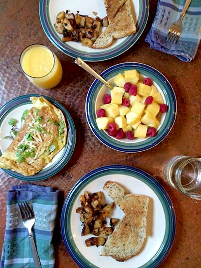 Saturday Morning Breakfast Omelet with Microgreens