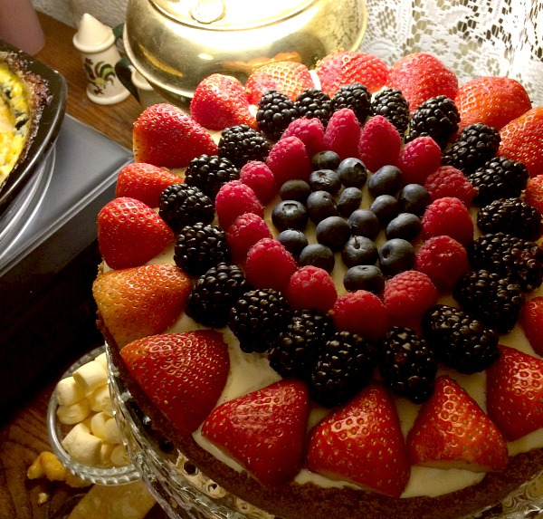 Christmas Night Fruit Custart Dessert