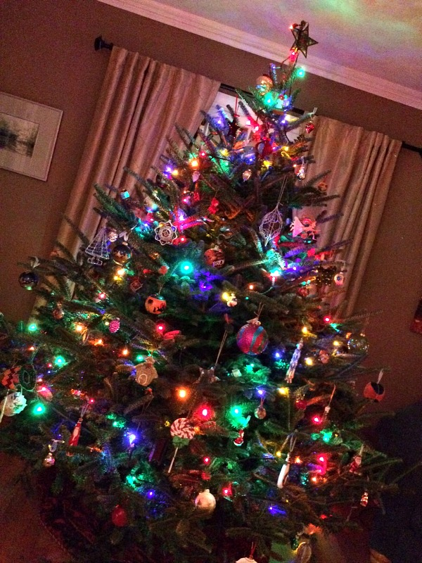 Christmas Tree 2014 Decorated and Lit
