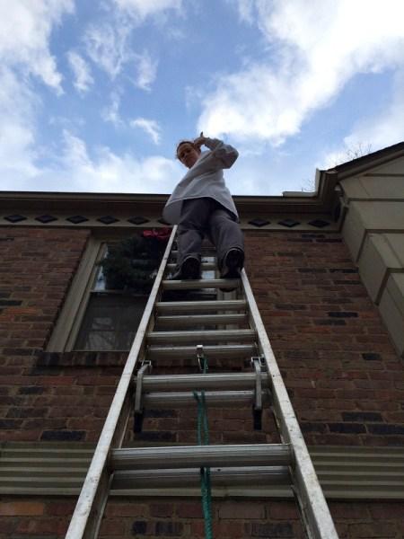 Meg on a Ladder