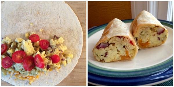 Scrambled Egg Wrap Collage