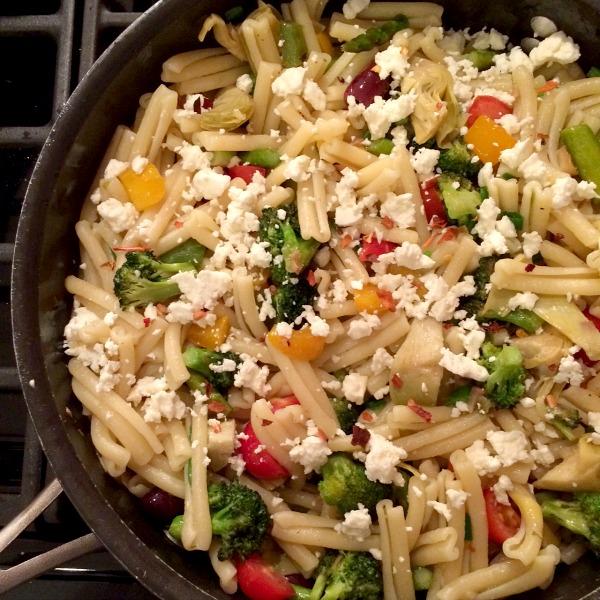 Veggie Pasta with Feta