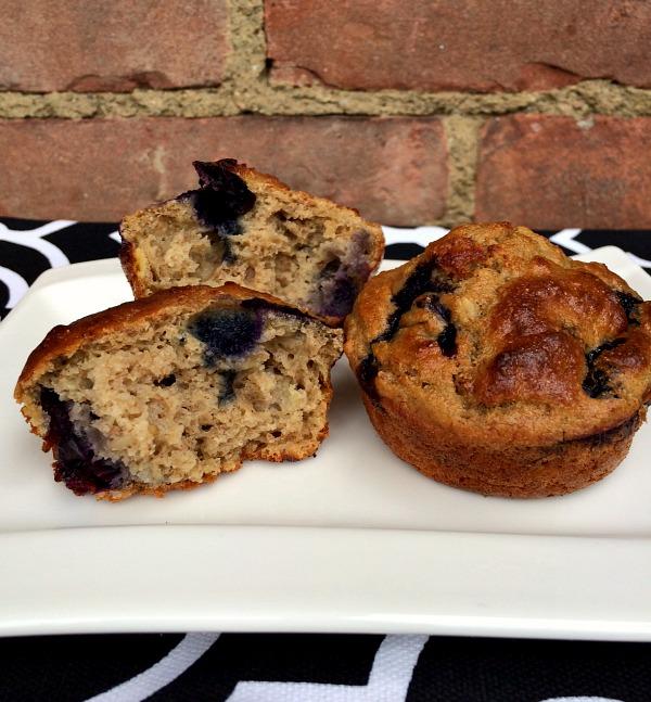 Banana Blueberry Oat Muffins B