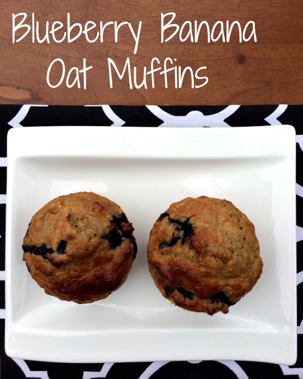 Blueberry Banana Oat Muffins 2
