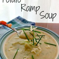 Recipe: Potato Ramp Soup with Cheddar & Chives