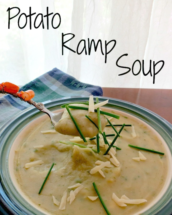 Potato Ramp Soup with Cheddar & Chives