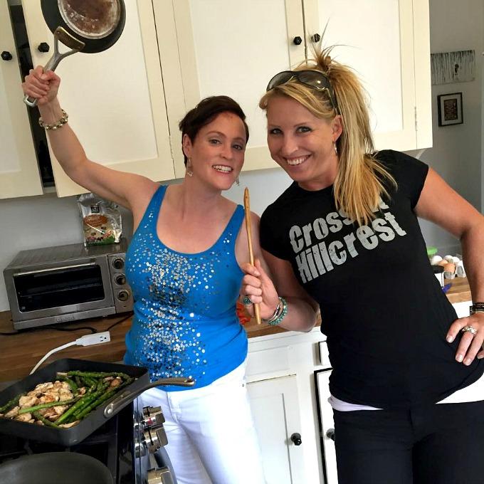 Meg and Lucie Kitchen Shenanigans