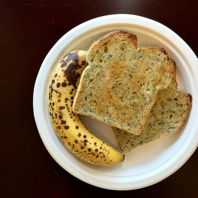 Banana and Tuscan Herb Toast with Butter