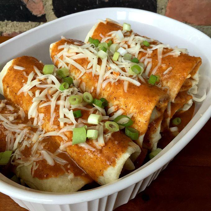 Cabbage Stuffed Enchiladas