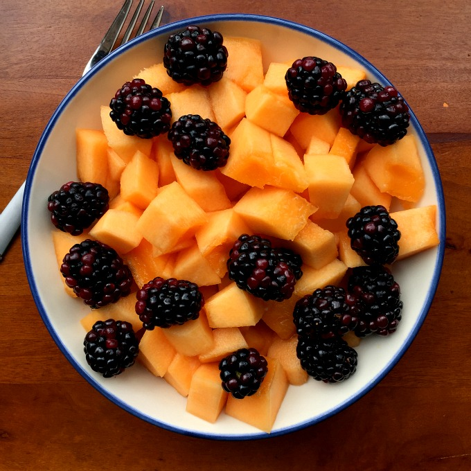 Blackberries and Canteloupe