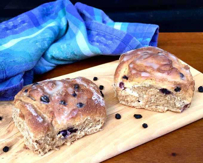 Blueberries, lemon zest and cream cheese combine to make the ultimate bun.