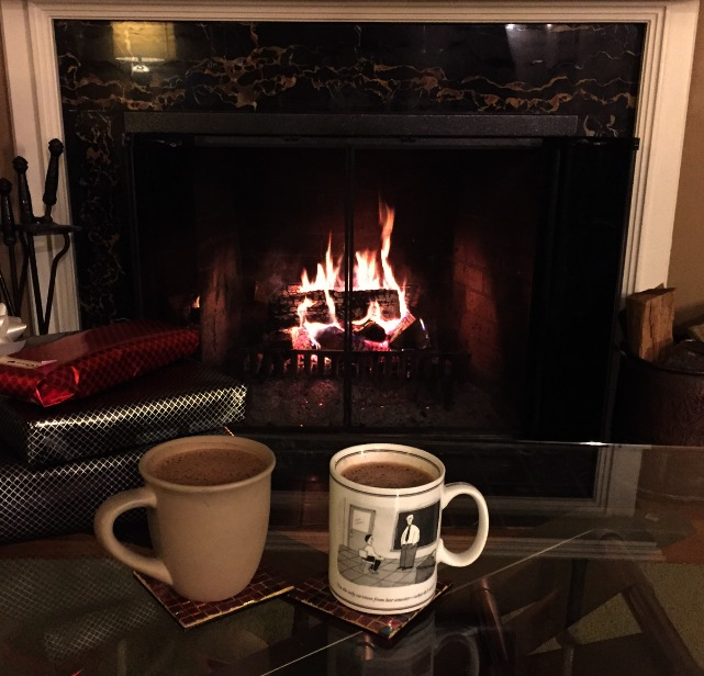 Hot Cocoa in front of the Fire