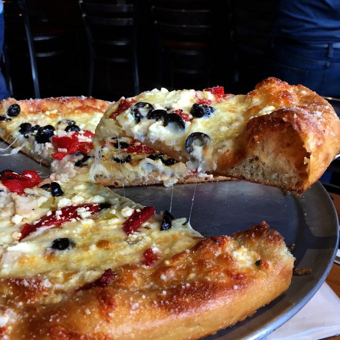 Mellow Mushroom Mediterannean Pizza