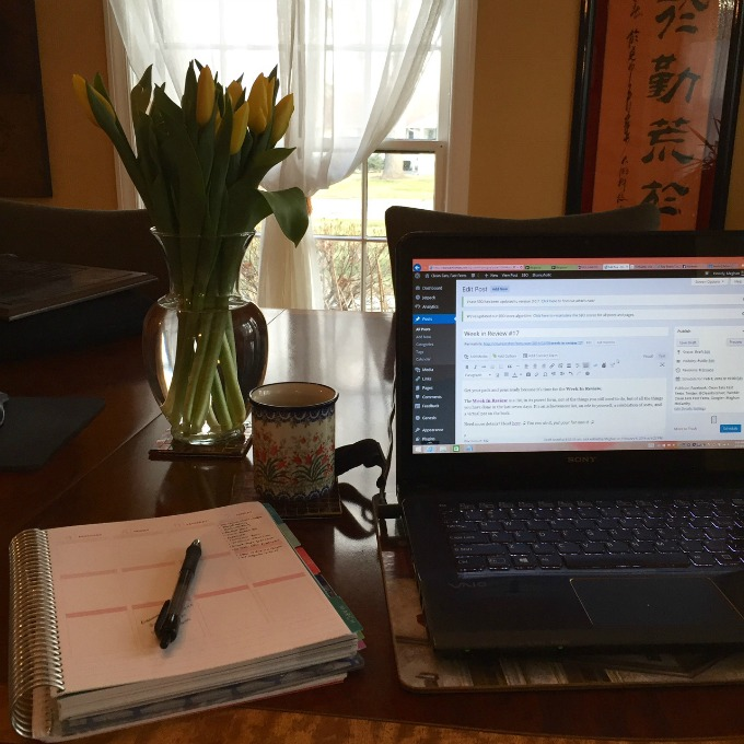 Blog Writing, Lemon Watering and List Making - Tulips - Easy Like Sunday Morning