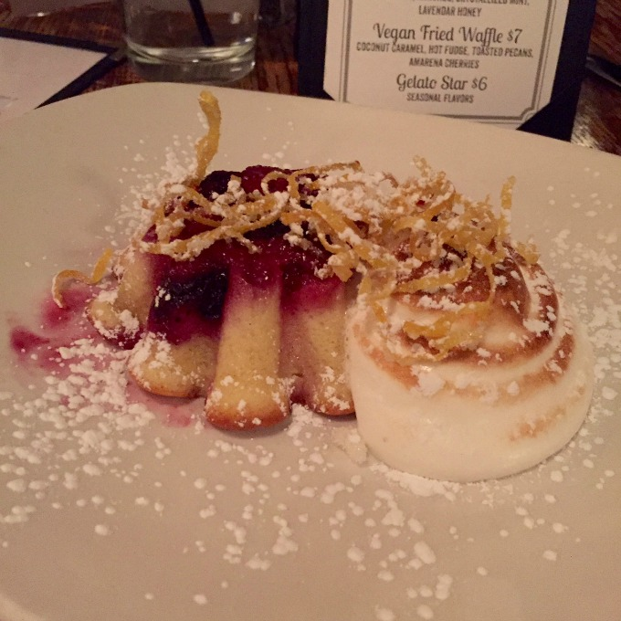 Deagans Blackberry Clafouti, Toasted Meringue and Candied Lemon Zest