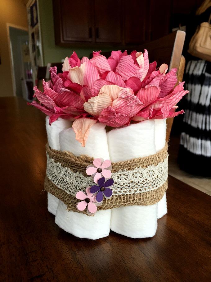 Baby Shower Diaper Centerpiece