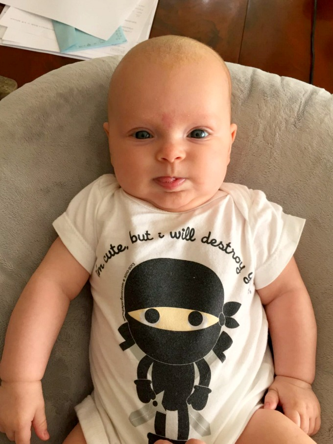 Ave Ninja Onesie - I'm Cute but I Will Destroy You