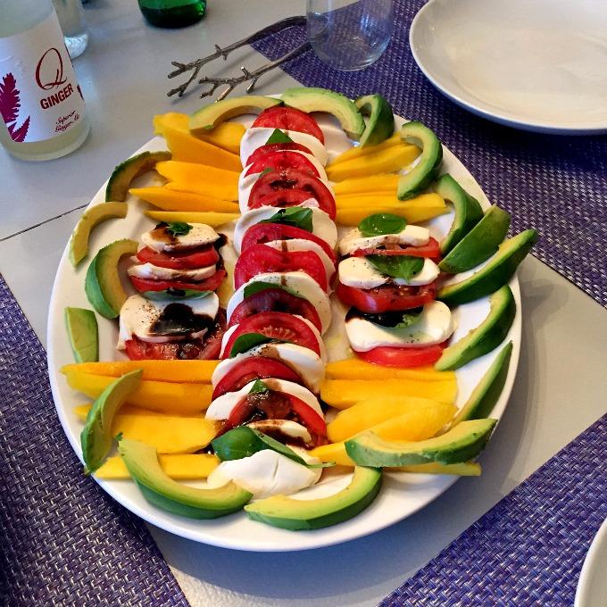 Caprese Salad with Avocado and Mango