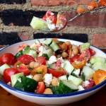 This Cucumber Tomato Salad with Feta is the perfect summertime fare: light, flavorful, refreshing and easy to whip up.