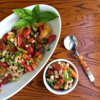 Simple and Sassy White Bean Tomato Basil Salad Recipe