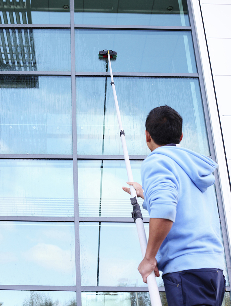 Professional Window Cleaning Services Cleaners on the move