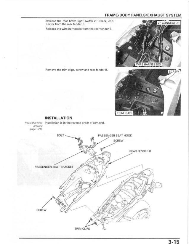 2003 Honda Cbr 600rr Owners Manual