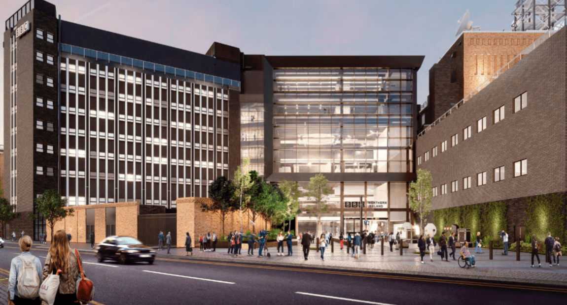 PICTURED: proposed updated look for BBC Broadcasting House, Belfast.