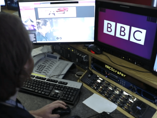 PICTURED: botched/unofficial BBC logo in use within the BBC.