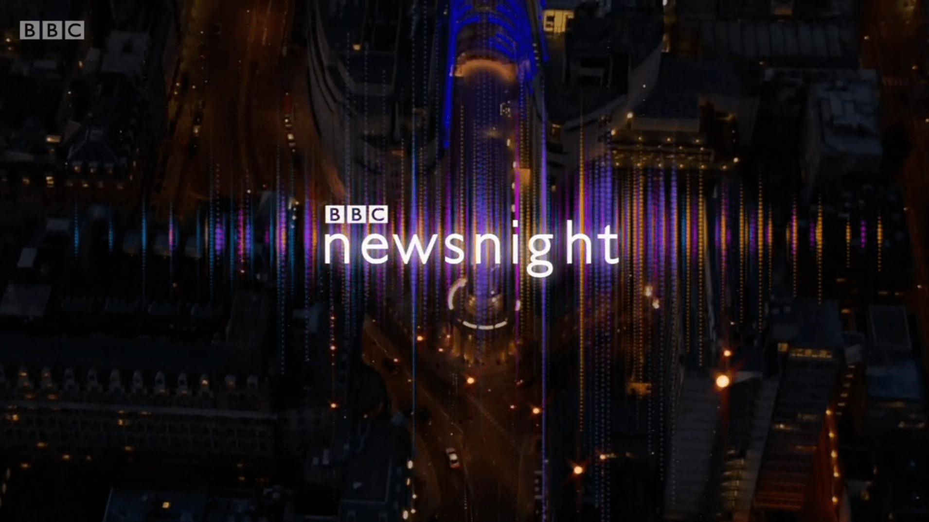 PICTURED: BBC Newsnight opening titles.
