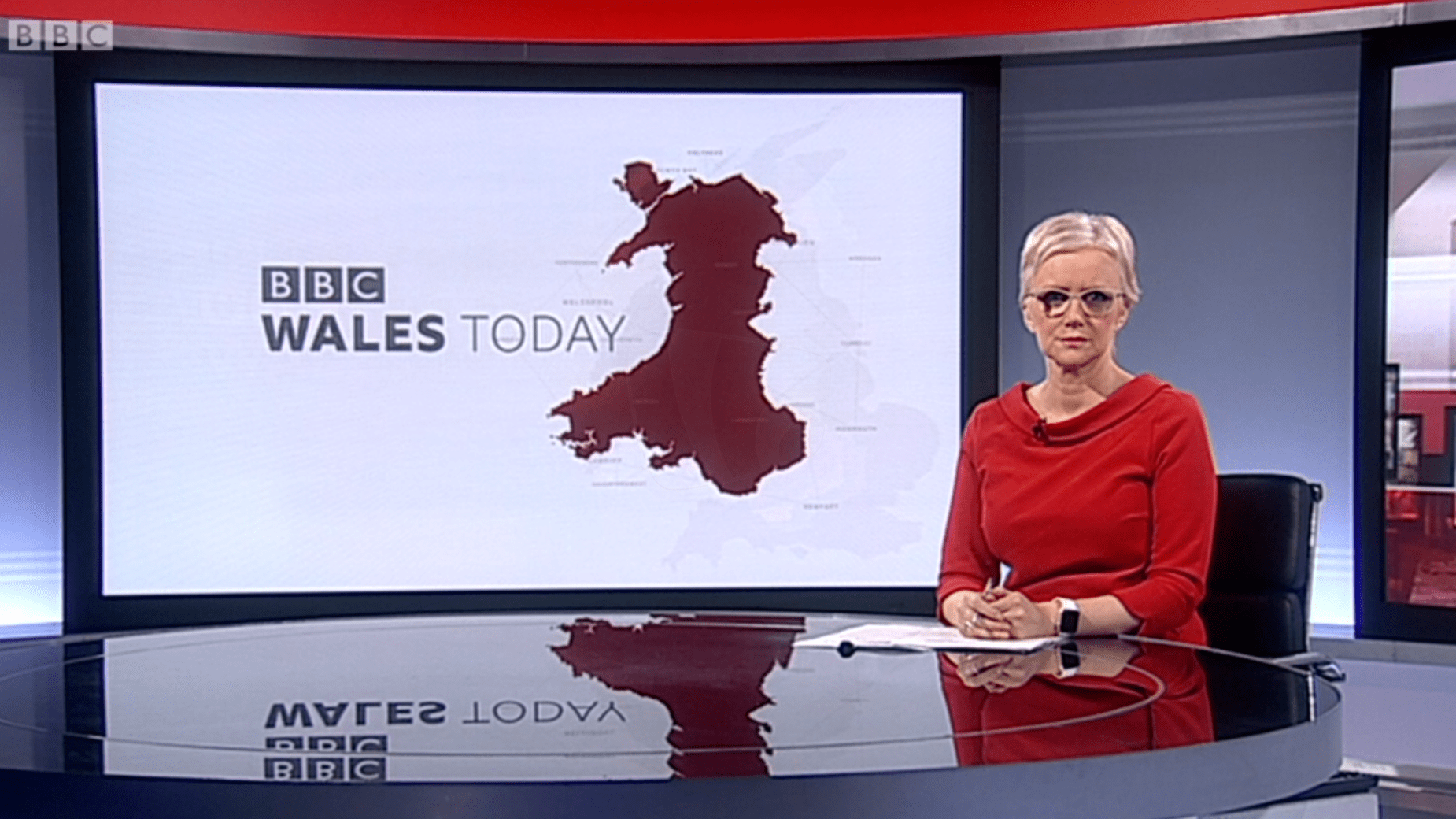 PICTURED: BBC Wales Today studio presentation. Presenter: TBC.