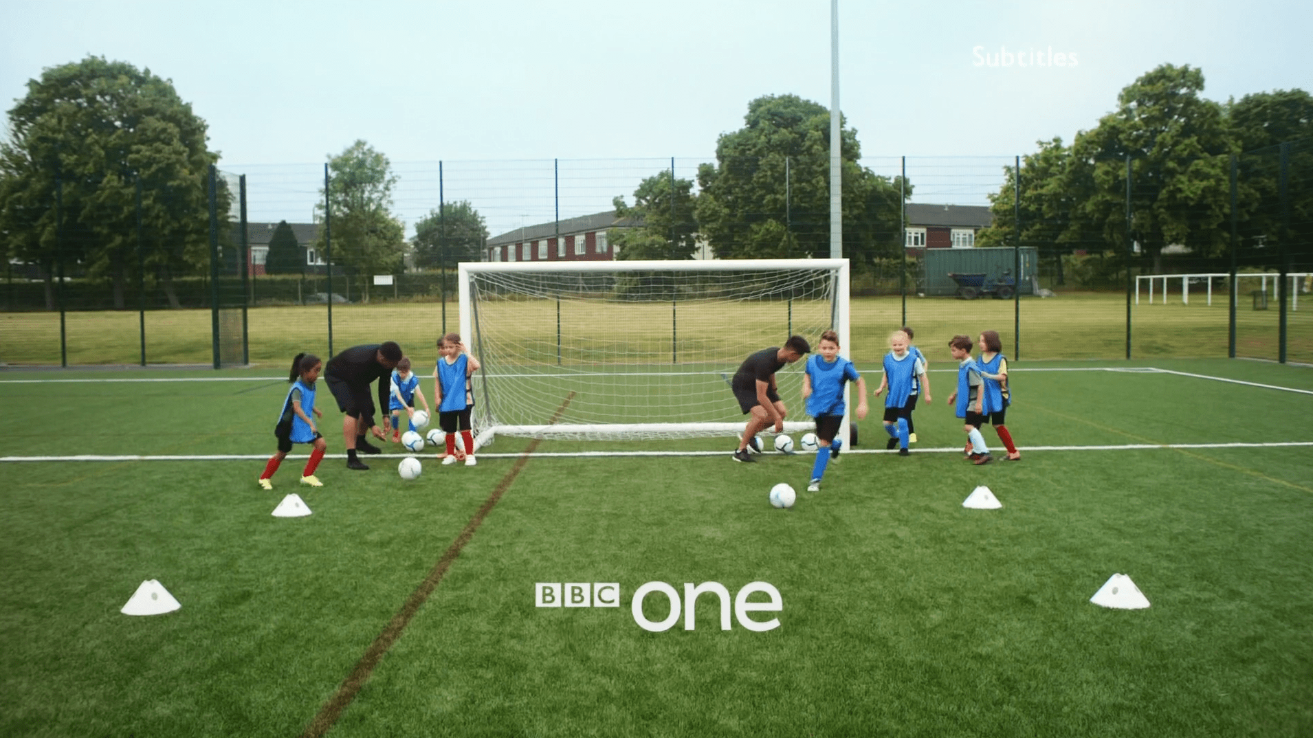 PICTURED: BBC One ident - Under-7 Footballers, Barnet - Version 1.
