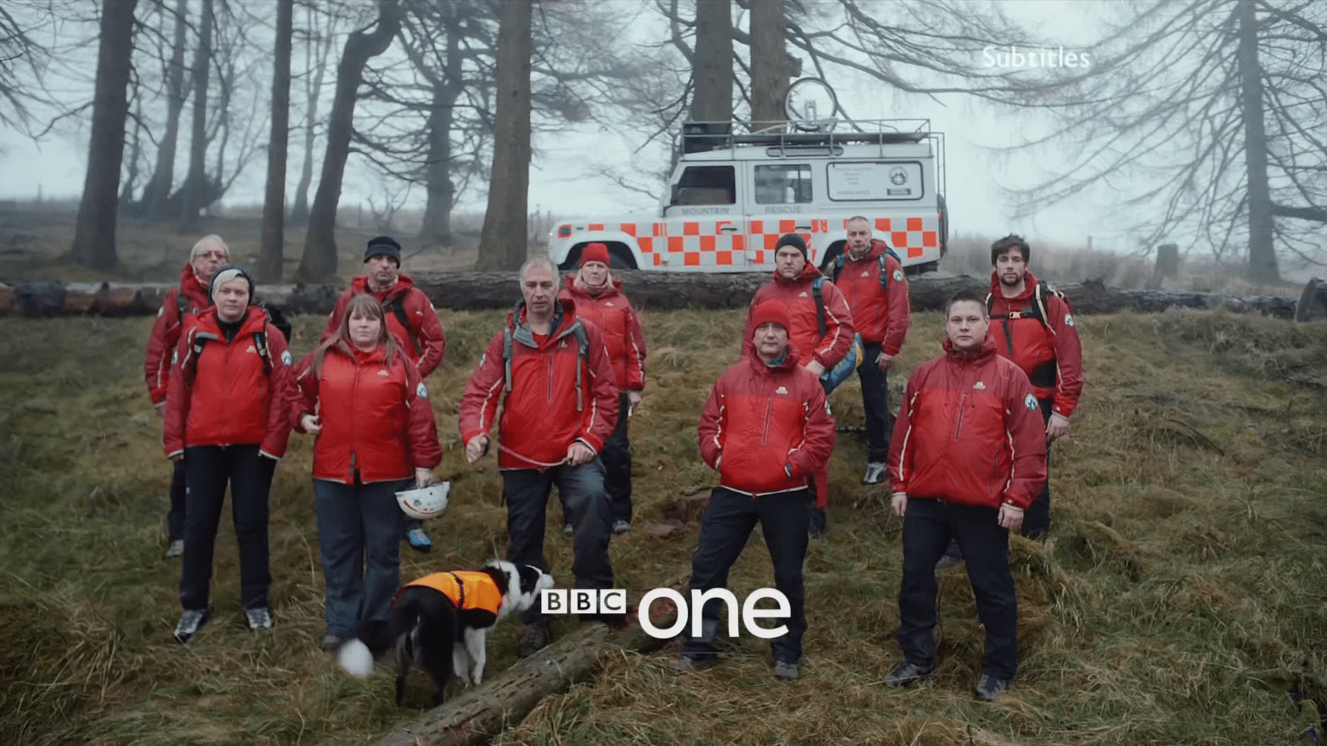 PICTURED: BBC One ident - Mountain Rescue Volunteers, Brecon Beacons - Version 1.